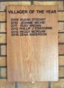 Villager of the Year Plaque