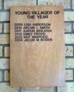 Young Villager of the Year Plaque